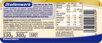 Puszta-Salat pikant gewürzt - Etikett