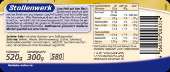 Sellerie-Salat Streifen süß-sauer eingelegt - Etikett