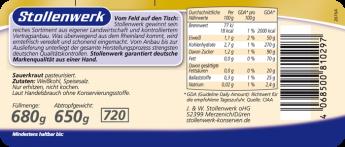 Sauerkraut  - Etikett