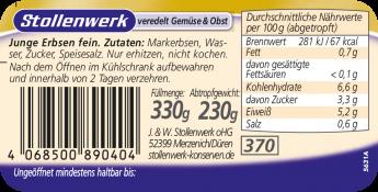 Junge Erbsen fein - Etikett