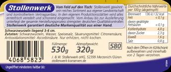 Schwarzwurzeln  - Etikett