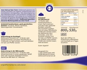 Grünkohl handverlesen, grob geschnitten - Etikett
