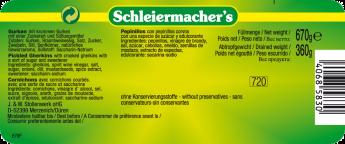 Schleiermachers Gurken  würzig-pikant mit krummen Gurken - Etikett