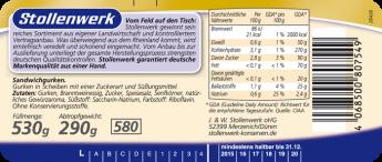 Sandwichgurken süß-würzig - Etikett