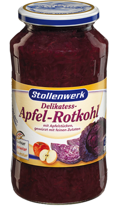 Del. Red Cabbage   with apple pieces spiced with fine ingredients - tin
