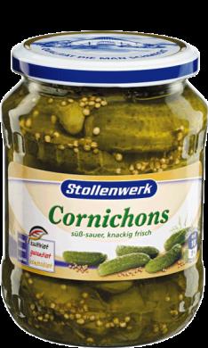 Cornichons süß-sauer, knackig frisch - Konserve