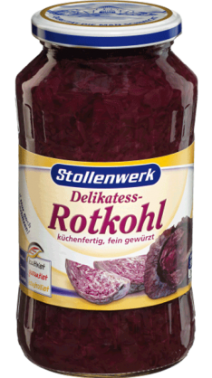 Delikatess Red  cabbage pre-cooked - tin