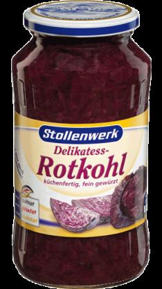 Delikatess Rotkohl küchenfertig, fein gewürzt - Konserve