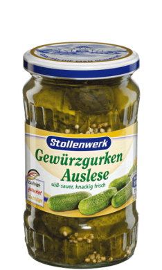 Selected pickled gherkins  sweet-sour, crunchy and fresh - tin