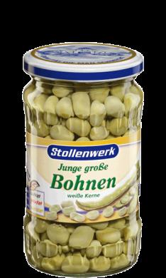 White broad  beans  - tin