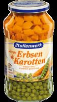 Erbsen fein<br /> Karotten gewürfelt
