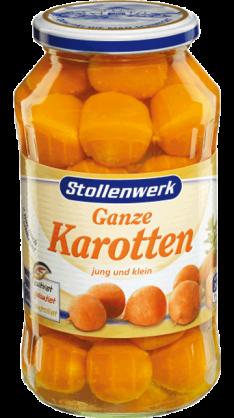 Ganze Karotten jung und klein - Konserve