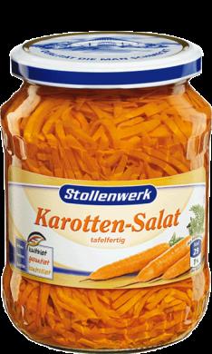 Carrot salad  in stripes mild - tin