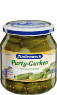 Pickled party gherkins