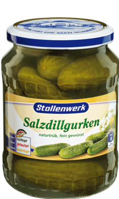 Salt-dill gherkins naturally cloudy, flavored  - tin