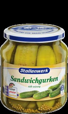 Sandwich gherkins sweet-spicy - tin