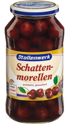 Morello cherries pitted, in syrup - tin