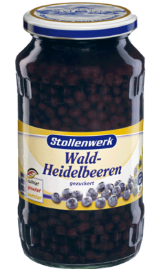 Blueberries in syrup - tin