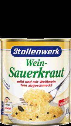 Wein-Sauerkraut mild und mit Weißwein fein abgeschmeckt - Konserve