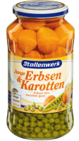 Erbsen fein<br /> Karotten ganz