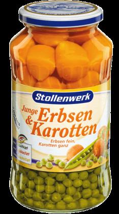 Junge Erbsen & Karotten Erbsen fein, Karotten ganz - Konserve