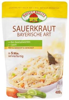 Sauerkraut Bayerische Art mit Bier, Karottenwürfeln und Lauc mit Bier, Karottenwürfeln und Lauch - Konserve